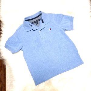 Tommy Hilfiger Short Sleeve Blue Polo Shirt sz 5